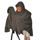 Professional Detachable Water Resistant Camera Cover + Raincoat - Dark Khaki