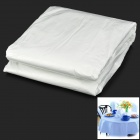 Kitchen Plastic Disposable Table Cloth Covers - White (20 PCS)