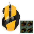 RH-9100 USB 2.0 Wired 800 / 1600 / 2400 / 3200dpi Optical Gaming Mouse - Yellow + Black