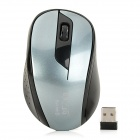 Jiayibing S5 2.4GHz USB 2.0 1600dpi Wireless Optical Mouse - Grey + Black (1 x AA)