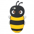 3D Bee Style Protective SIlicone Back Case for iPhone 5 - Yellow + Black