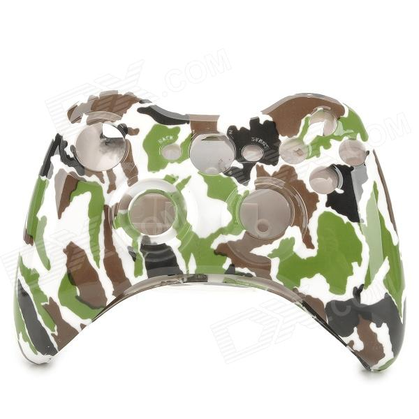 Replacement ABS Full Housing Case Shell for Xbox 360 Wireless Controller - Camouflage 1 set replacement golden full housing shell case screen cover tool for nintendo for gameboy advance sp for gba sp