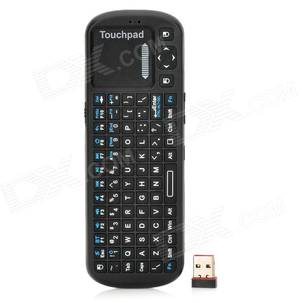 KP-810-19BTT Bluetooth 84-Key Keyboard Remote Controller for Mini PC / Google TV Player - Black gp470 eg11 gp477r eg11 gp477r eg41 24vp touch pad touch pad