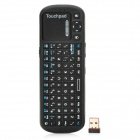 KP-810-19BTT Bluetooth 84-Key Keyboard Remote Controller for Mini PC / Google TV Player - Black