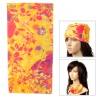 6032401 Outdoor Sport Multifunction Polyester Seamless Head Scarf - Yellow + Red