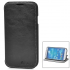 Azns Protective PU Leather Case for Samsung Galaxy S4 i9500 - Black