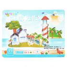 DIY 3D Meer Strand Papier & Foam Kids Education Puzzle Spielzeug - Multicolor