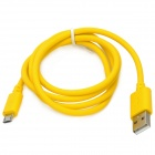 USB to Micro USB Data / Charging Cable for Android Smart Phones - Yellow