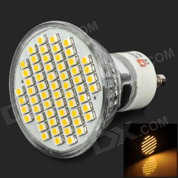 LeXing LX-003-HP GU10 3W 150lm 3300K 60-SMD 3528 LED Warm White Spotlight Bulb - Silver lexing lx r7s 2 5w 410lm 7000k 12 5730 smd white light project lamp beige silver ac 85 265v