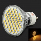 LeXing LX-003-HP GU10 3W 150lm 3300K 60-SMD 3528 LED Warm White Spotlight Bulb - Silver