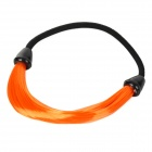 6394 Girl Hairpiece Stretchy Hair Ring - Fluorescent Orange + Black