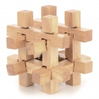 Intelligence Training Wooden Interlock Puzzle Toy - Light Yellow