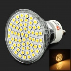 LeXing LX-001 GU10 3W 200lm 3300K 60-SMD 3528 LED Warm White Spotlight Bulb - Silver