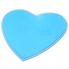 Love Heart Style Anti-Slip Silicone Pad Mat for Cell Phone / MP4 / MP5 - Translucent Blue