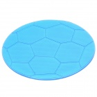 Football Style Anti-Slip Silicone Pad Mat for Cell Phone / GPS / MP4 / MP5 - Translucent Blue