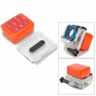 Waterproof Foam Floaty Backdoor  w/ 3M Adhesive Tape for Gopro Hero 3/2/1 - Orange + Transparent