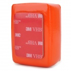 Waterproof Foam Floaty Backdoor w/ 3M Adhesive Tape for Gopro Hero 3/2/1/SJ4000 - Orange