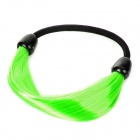 6394 Girl Hairpiece Stretchy Hair Ring - Fluorescent Green + Black