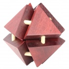 Wood Interlock 3D Triangular Puzzle Toy - Deep Red + Black