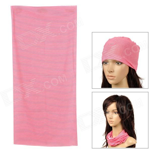 6032605 Multifunctional Outdoor Sports Seamless Polyester Fiber Head Scarf - Red