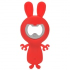 Cute Rabbit Style Beer Bottle Opener - Red + Silver
