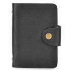 Elegant PU Leather 26-Slot Business Card Storage Case - Black