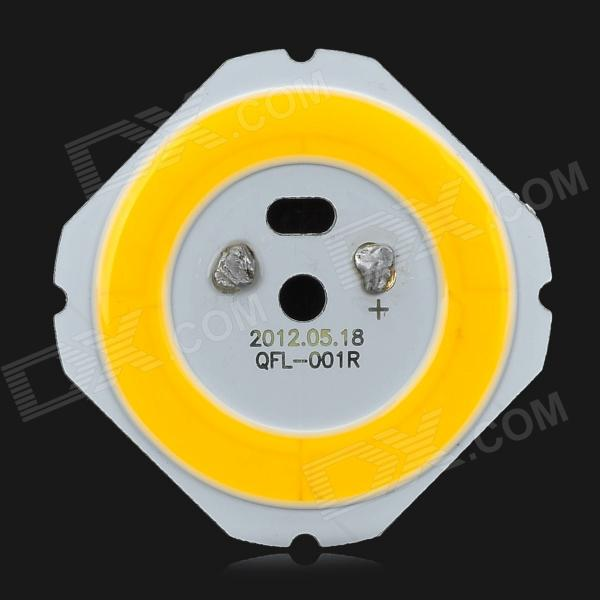 QFL-001R 5W 500lm 3300K Warm White Light COB LED - Yellow + White +  Silver (DC 25~26V)