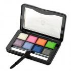JD-LA4724 02# Soft Shining 8-in-1 Makeup Eye Shadow - Multicolored