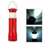 WOLVES CL-6686 Convenient Multifunctional 2-in-1 White Zooming Flashlight + Lantern - Red (3 x AAA)