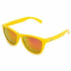 OREKA 009 Fashion UV400 Protection Red REVO Resin Lens Polarized Sunglasses - Yellow