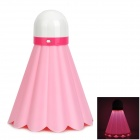 FN Novel Badminton Shaped 180lm 6300k USB Powered Rechargeable LED Night Lamp - Pink