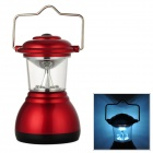 TH06 Convenient 6 LEDs Camping Lamp w/ A Handle / Hook - Red (3 x AAA)
