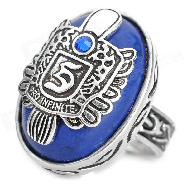 The Vampire Diaries Retro Punk Ring - Blue + Silver