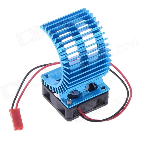 N10026 Aluminum Alloy Motor Heatsink w/ Fan for RC 540 / 550 Motor - blue 03011 rs540 26 turn 540 motor rc car hsp 1 10 scale models brushed electric motor brush for himoto redcat remote control cars