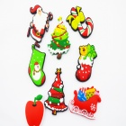 Cute Christmas Style Fridge Magnet Sticker - Multicolored (8 PCS)