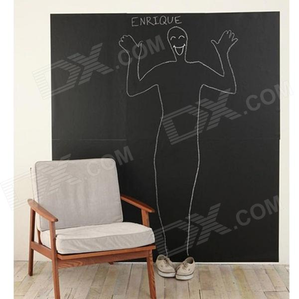 Aomei 000B2 PVC Removable Reusable Blackboard Home Decoration Wall Sticker - Black (Middle Size)