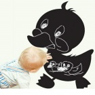 Aomei 0148 Cute PVC Duck Shape Removable Reusable Blackboard Wall Sticker - Black (60 x 50cm)