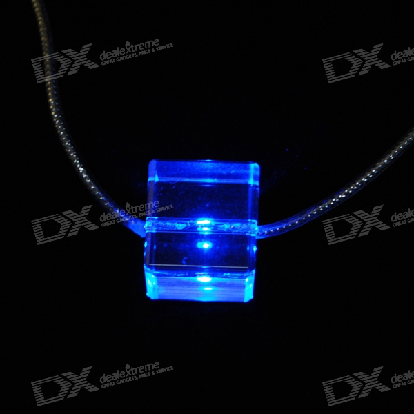 Blue Light Glitter LED Necklace (3*LR41 Included)