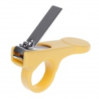Rikang RK-3653 Dedicated Anti-Skidding Stainless Steel + ABS Baby Nail Clippers - Yellow