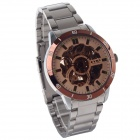 EYKI W8495AG-C Stainless Steel Self-Winding Mechanical Wrist Watch - Golden + Silver