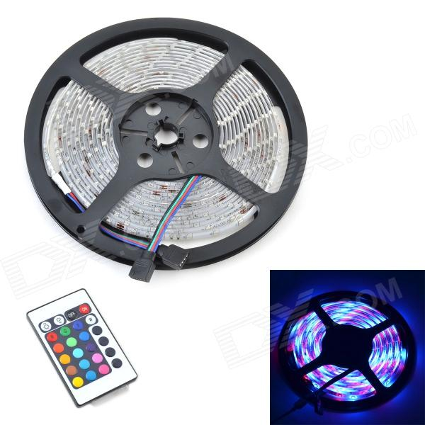 Waterproof 14.05W 600lm 300-SMD 3528 LED RGB Light Strip w/ 24-Key Remote Controller - (5M / 12V) футболка стрэйч printio kong is king кинг конг