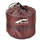 RYDER Outdoor Camping Lengthen 190T Polyester Self-inflating Pillow w/ Pouch - Multicolored