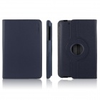 ENKAY ENK-7105 360 Degree Rotation Protective PU Leather Case Cover for Google Nexus 7 - Dark Blue