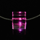 Pink Light Glitter LED Necklace (3*LR41 Included)