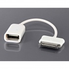 30-Pin Male to USB 2.0 Female OTG Cable for Samsung Galaxy Tab P3100 / P5100 / P3200 / P5200 - White
