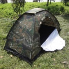 SW5002 Maple Leaf Pattern Waterproof Polyester 1-Person 1-Mesh Door Camping Tent - Camouflage