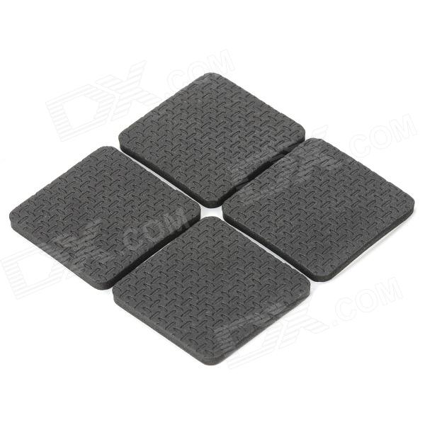 YPHB-B451 Square Soft Plastic Table / Desk Protector Pads for Wood Floor - Black (4 PCS) economic bicycle brake pads black 4 pcs