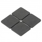 YPHB-B451 Square Soft Plastic Table / Desk Protector Pads for Wood Floor - Black (4 PCS)