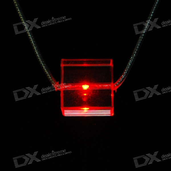Red Light Glitter LED Necklace (3*AG13 Included)
