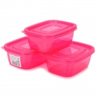 PP Luftdichte Preservation Box - Deep Pink (3 PCS / 500ml)